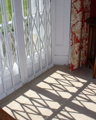 French Door Security Grille
