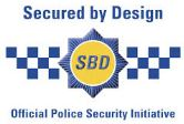 Garage doors, Secured by Design logo