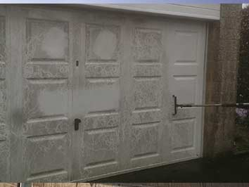 Pressure washing garages