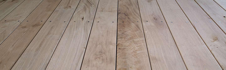 Oak wooden flooring Bath