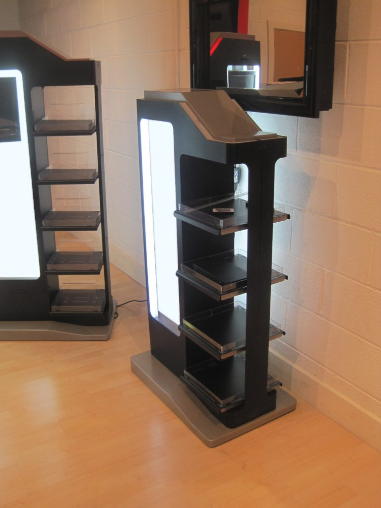 Sheet Metal Work Bath Display Stands Point Of Sale