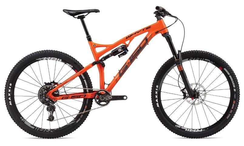 whyte bikes Terrys cycles orange