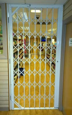 shop security grilles Bristol