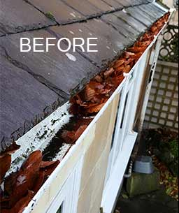 Gutter Cleaning in Bath, Before