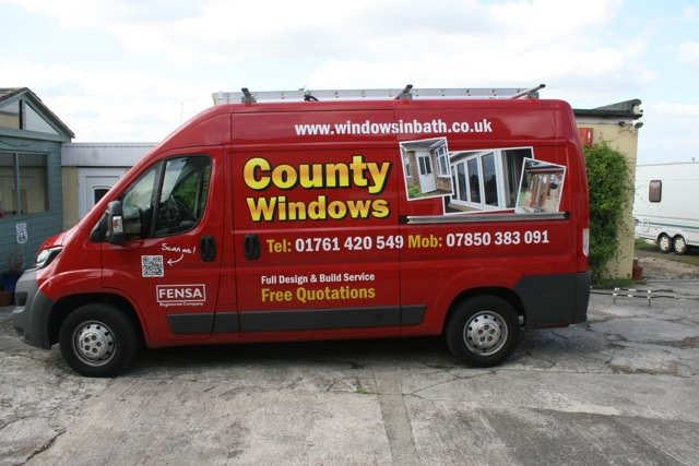 County widows delivery van Bath
