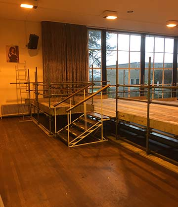 Bespoke Scaffolding Bristol, internal scaffold