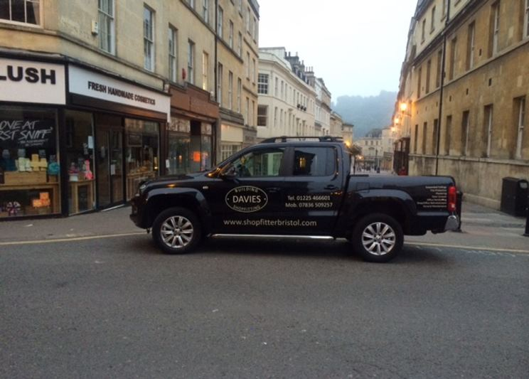 simon davies shopfitters business van