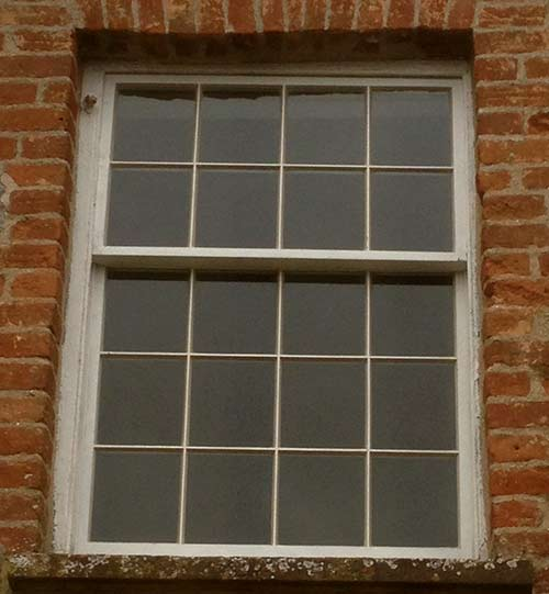 After Replacement of Georgian Sash Window Bath