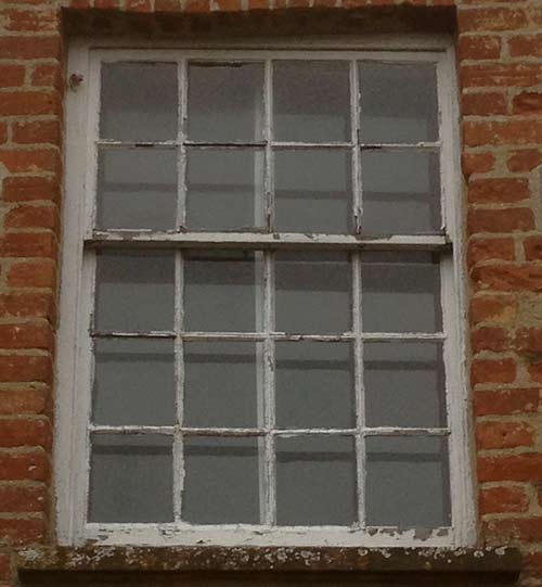 Before Replacement of Georgian Sash Window Bath