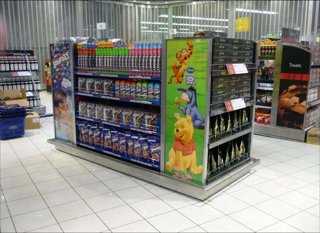 custom shop display by Stockall Precision Sheet Metalwork Ltd