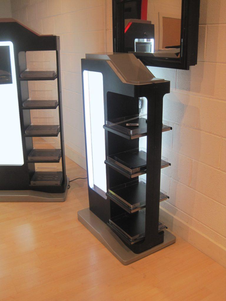 precision sheet metal work display stand