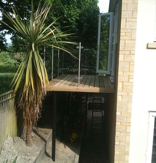 Balcony steel & glass, Engineering Bath