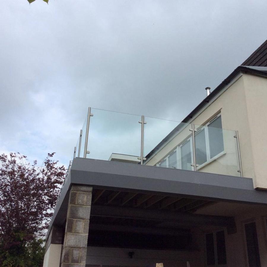 Steel Balcony with Glass