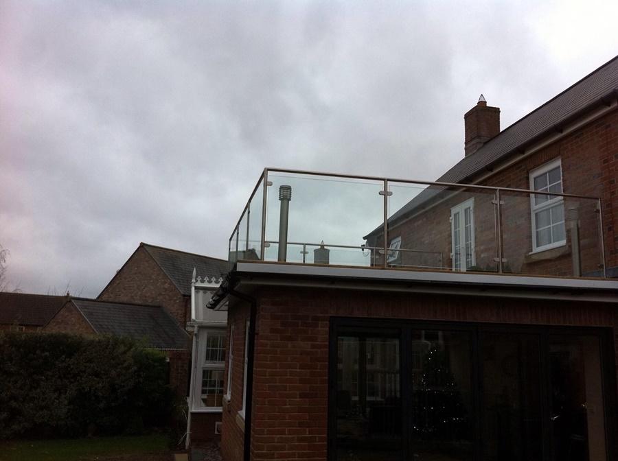 Glass and Steel Balcony